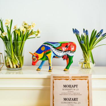 """Коллекционная корова Moosicowly Speaking - """"Музыкальный подарок"""" (30,5*19,5 см)"""