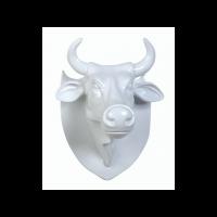 """Настенная голова коровы - """"Эко-трофей"""" CowParade Trophy Head White"""