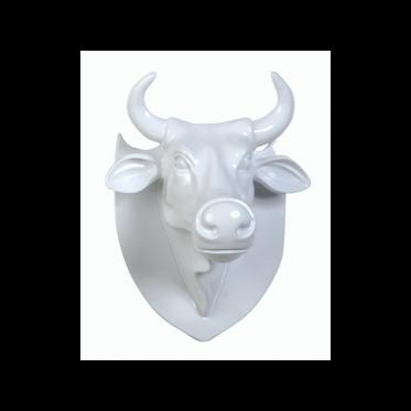 """Настенная голова коровы - """"Эко-трофей"""" CowParade Trophy Head White (23 cm x 17,5 cm x 14 cm)"""
